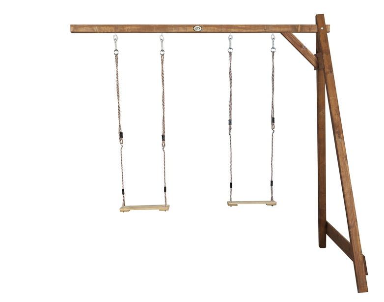 Holz-Kinder-Schaukel Axi Doppelschaukel-Anbau braun Schaukel aus Holz