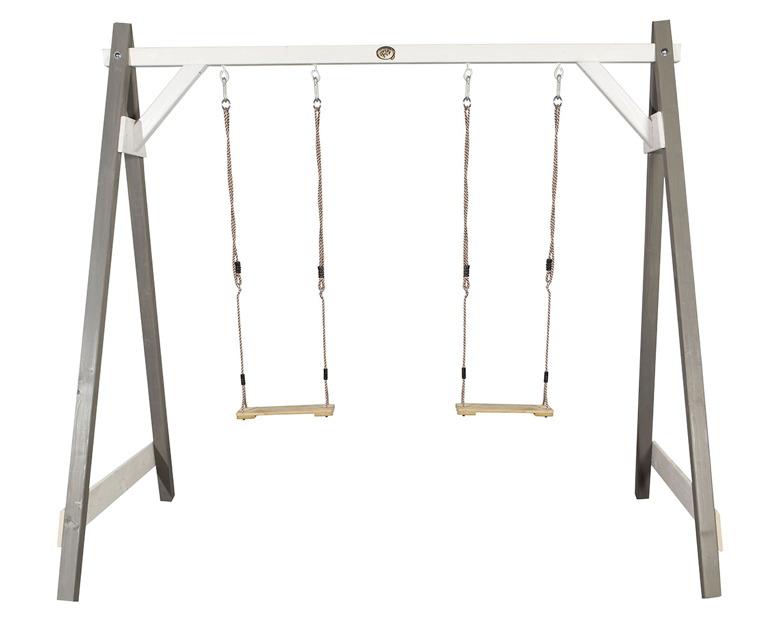 Bekannt Holz-Schaukelgerüst Bloxxis Holzschaukel Doppelschaukel grau für 2 TW19
