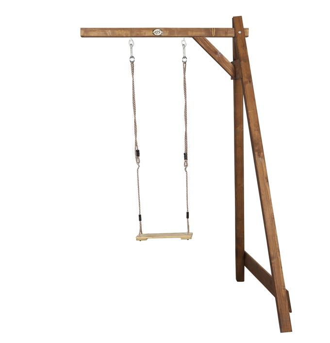 Holz-Kinder-Schaukel Axi Einzelschaukel-Anbau braun Schaukel aus Holz