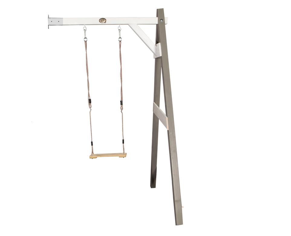 holz kinder schaukel axi sunny einzelschaukel anbau grau schaukel aus holz vom garten. Black Bedroom Furniture Sets. Home Design Ideas