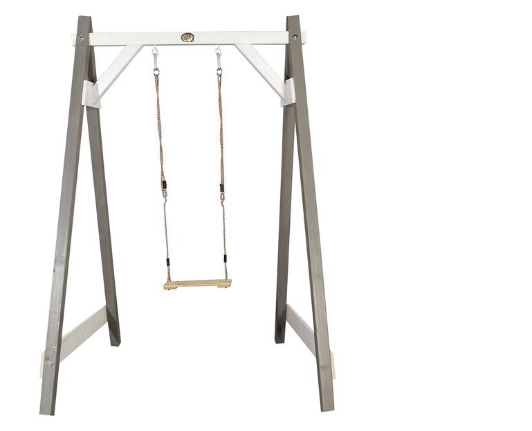 Holz-Kinder-Schaukel Axi Sunny Einzelschaukel grau Schaukel aus Holz