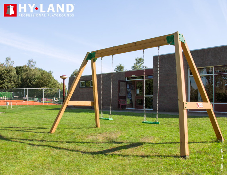 Kinderschauk HY LAND Doppelschaukel DIN EN 117 Holzschaukel