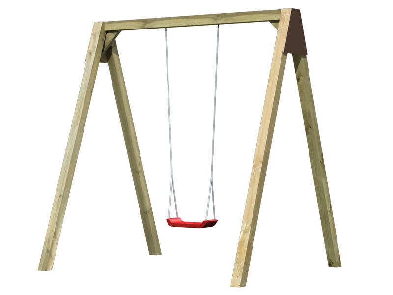 Kinder-Schaukel KARIBU Luftikus Einzelschaukel Holzschaukel, Gartenschaukel
