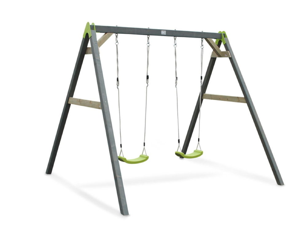 Kinder-Schaukel EXIT Aksent Doppelschaukel Holzschaukel