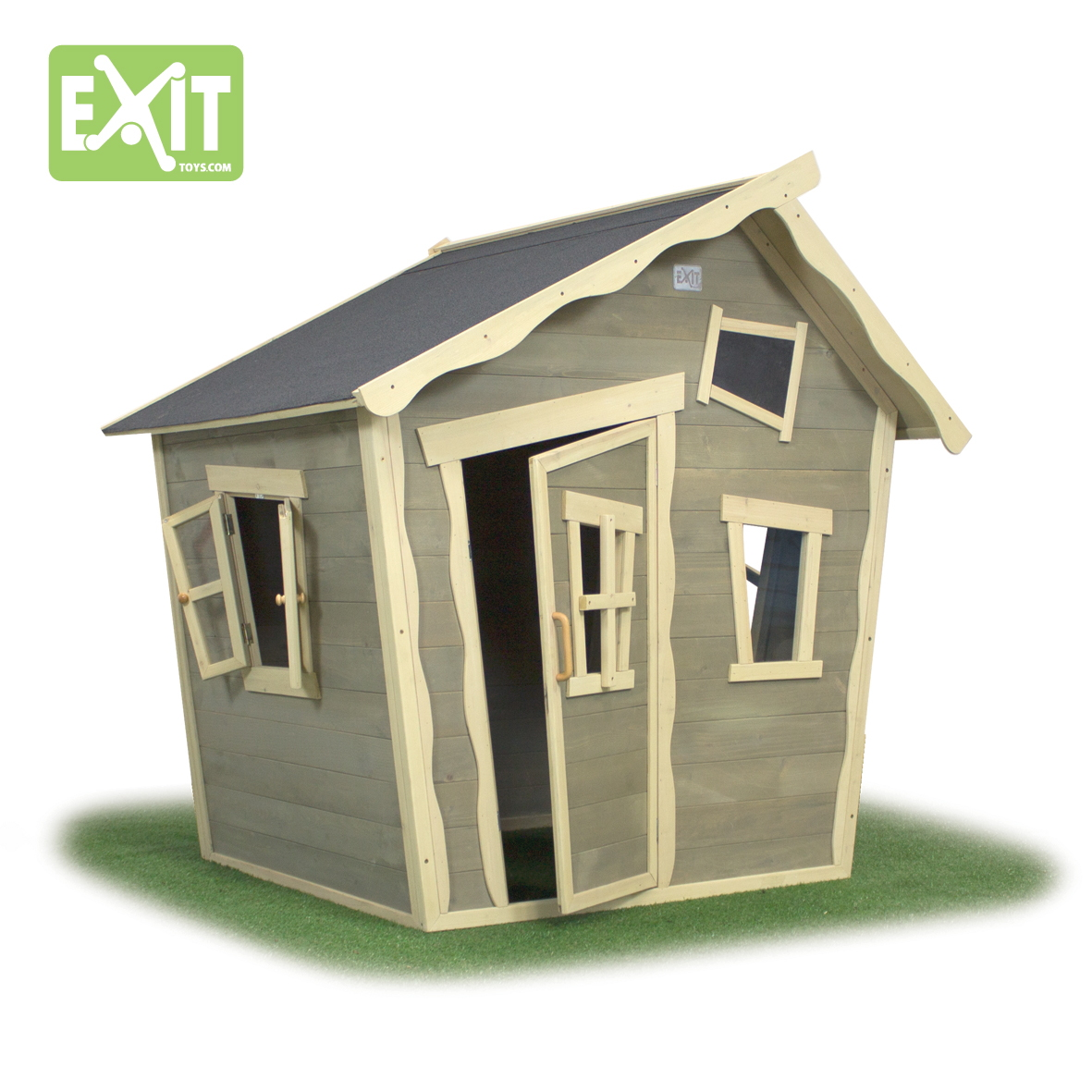 kinder spielhaus exit crooky 100 kinderspielhaus holzhaus kinderspielger te f r den garten. Black Bedroom Furniture Sets. Home Design Ideas