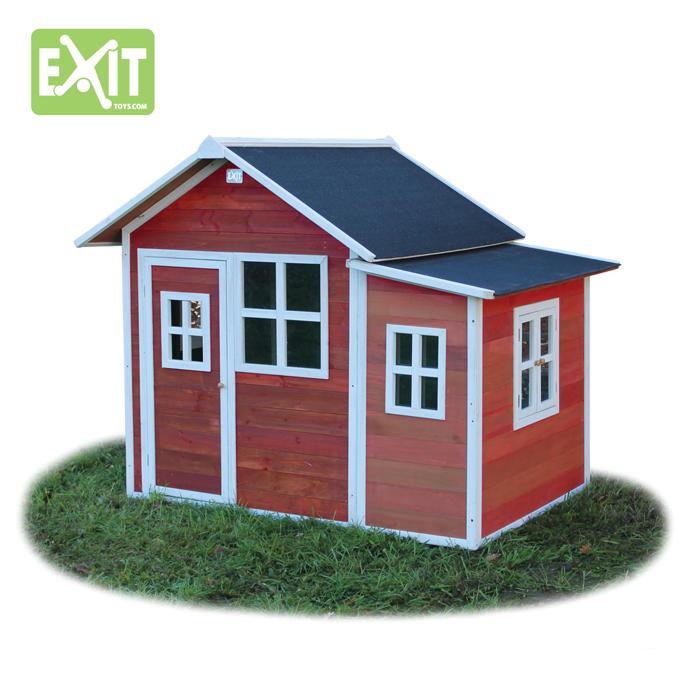 kinder spielhaus exit loft 150 gro es holz spielhaus naturfarben gebeizt kinderspielger te. Black Bedroom Furniture Sets. Home Design Ideas