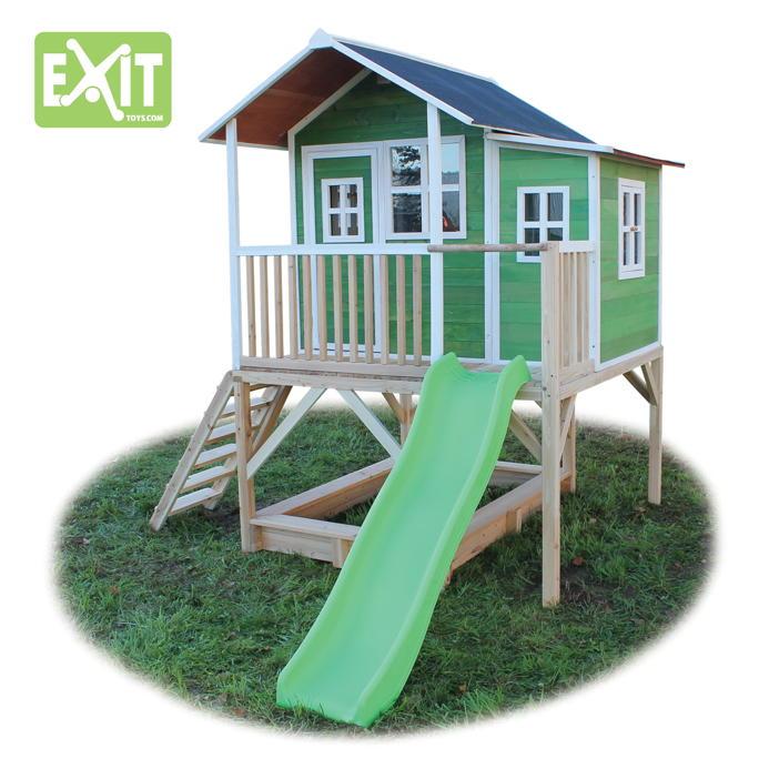 kinder spielhaus gro es stelzen kinderspielhaus holz natur. Black Bedroom Furniture Sets. Home Design Ideas