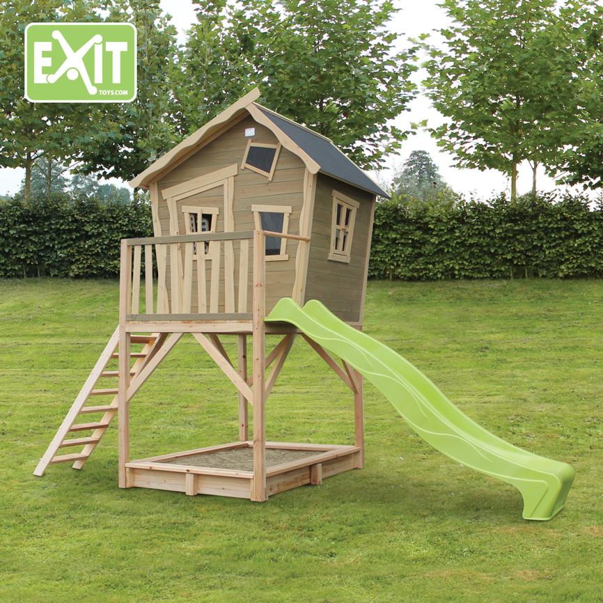 kinder spielhaus exit crooky 700 kinderspielhaus holz. Black Bedroom Furniture Sets. Home Design Ideas