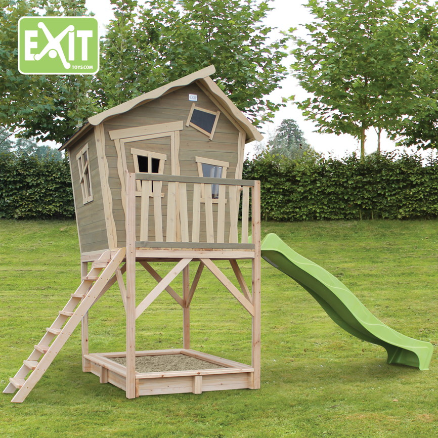 kinder spielhaus exit crooky 700 kinderspielhaus holz stelzenhaus kinderspielger te f r den. Black Bedroom Furniture Sets. Home Design Ideas