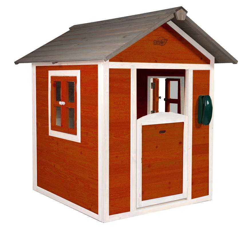 kinder spielhaus sunny lodge rot kinderspielhaus holz. Black Bedroom Furniture Sets. Home Design Ideas