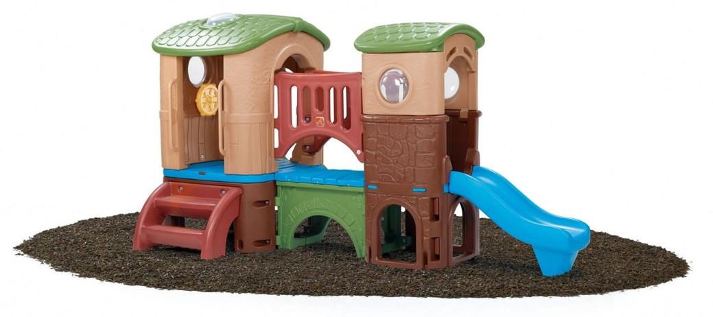 kinder kletterturm clubhaus spielhaus aus kunststoff mit rutsche spielturm kletterturm. Black Bedroom Furniture Sets. Home Design Ideas