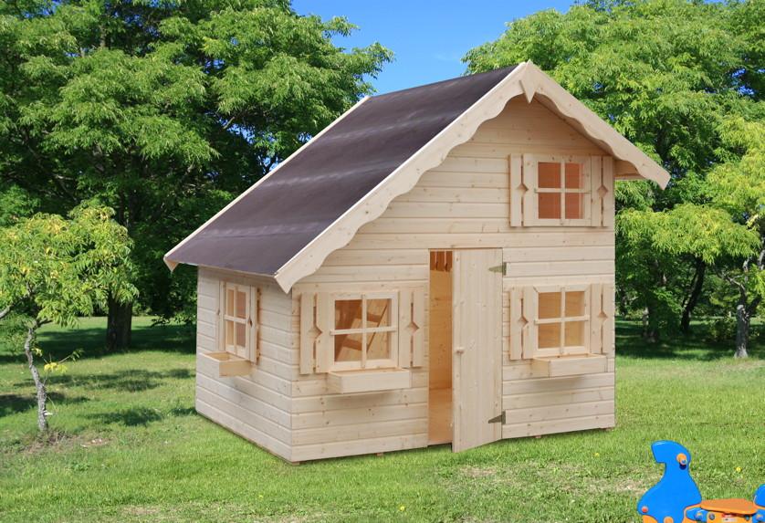 kinder spielhaus tree chambers kids anna holz kinderspielhaus 2 etagen garten. Black Bedroom Furniture Sets. Home Design Ideas
