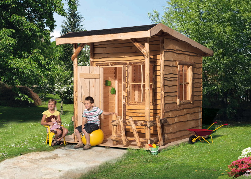 kinder holz spielhaus weka mecki abenteuerhaus kinderspielhaus ebay. Black Bedroom Furniture Sets. Home Design Ideas