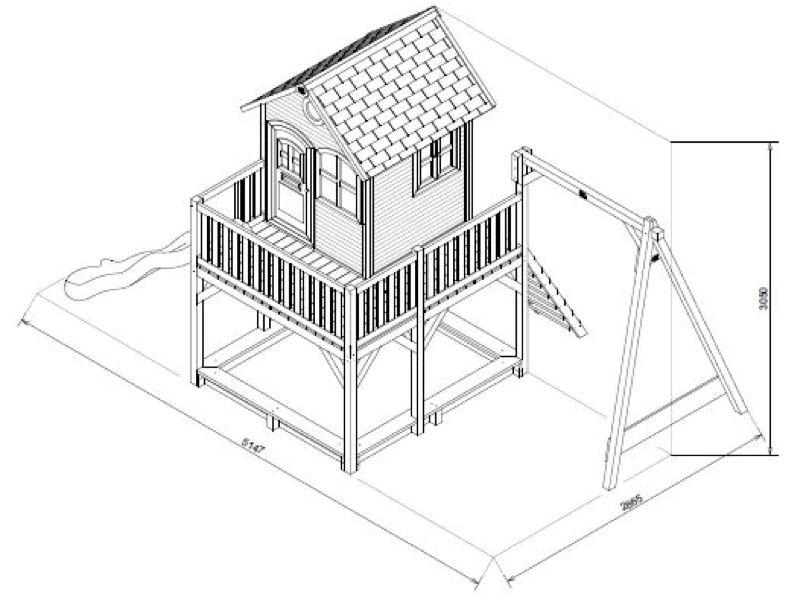 stelzen spielhaus fenster t r rutsche sandkiste einzelschaukel spielturm vom garten fachh ndler. Black Bedroom Furniture Sets. Home Design Ideas