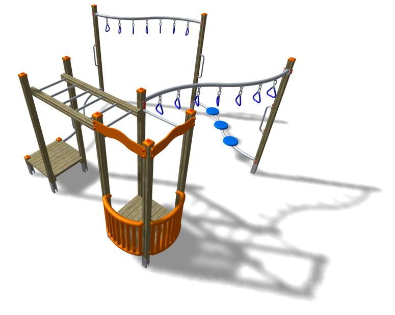 kletterger st din en 1176 hangelstation klettersystem vom spielger te fachh ndler. Black Bedroom Furniture Sets. Home Design Ideas