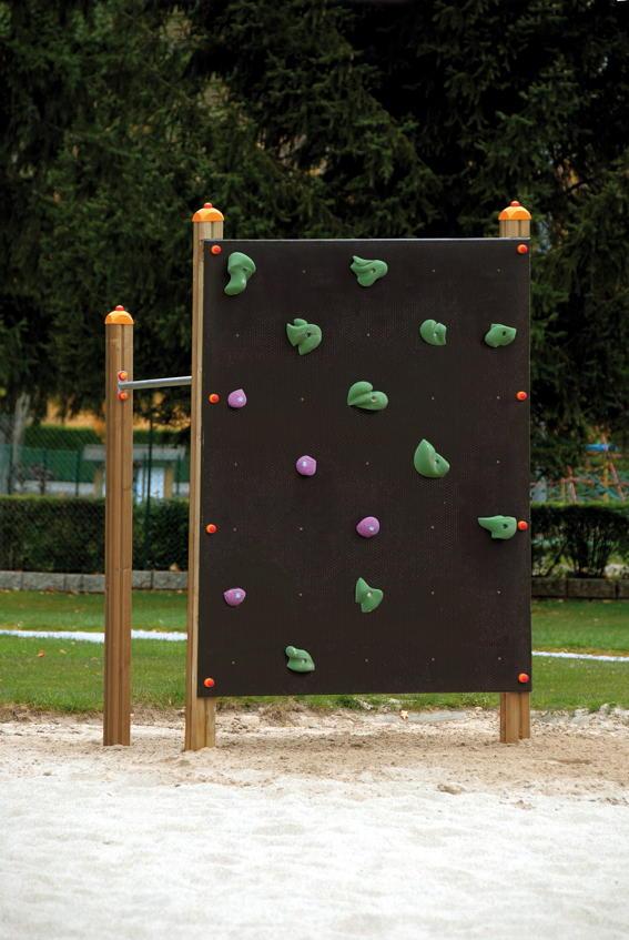 Klettergerüst DIN EN 1176 «Kletterwand» Reckstange | vom Spielgeräte ...