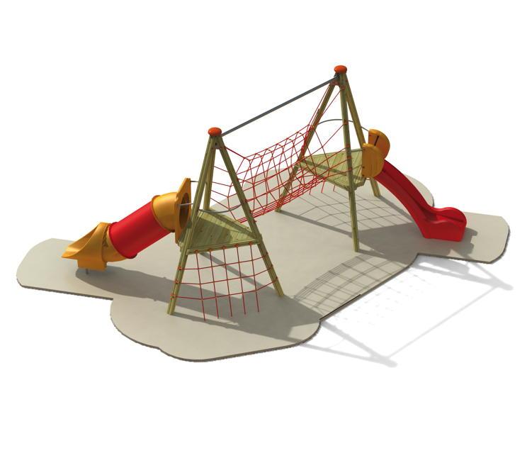kletterturm din en 1176 indian dreieck kletterturm mit h ngebr cke r hrenrutsche. Black Bedroom Furniture Sets. Home Design Ideas