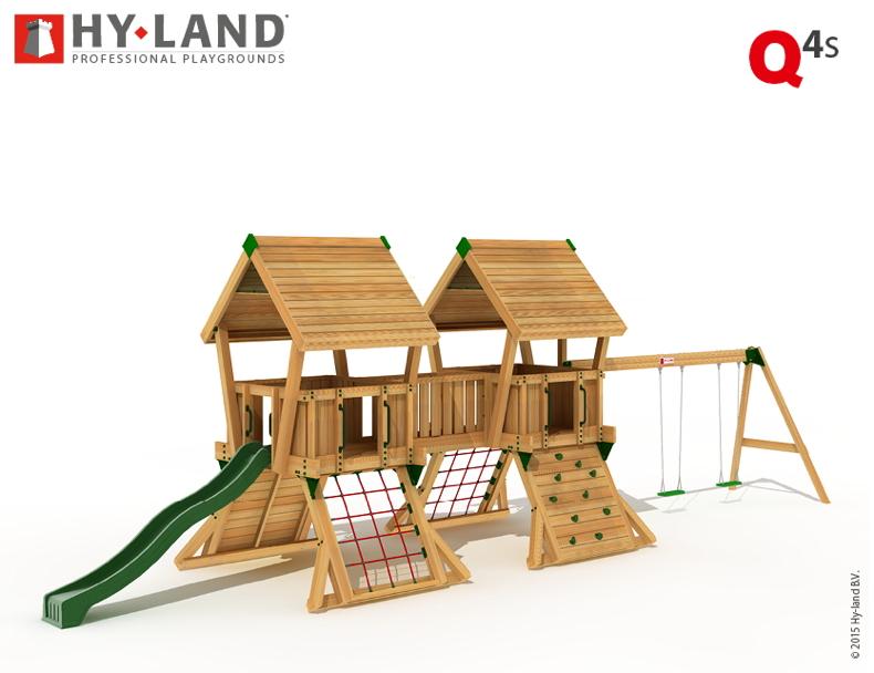 Gut gemocht Spielturm HY LAND «Q-Serie Projekt 4 Schaukel» Kletterturm Rutsche EN67