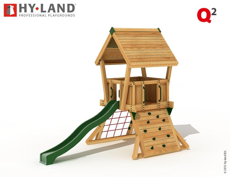 Gut bekannt Spielturm HY LAND «Q-Serie Projekt 2» Kletterturm mit Rutsche DIN YJ71