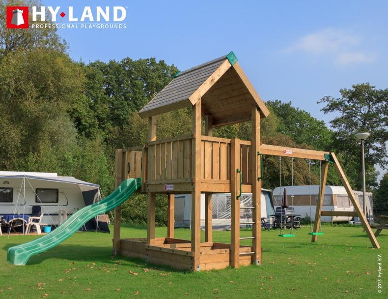 spielturm hy land wartburg mit schaukel kletterturm mit rutsche din en 1176 vom spielger te. Black Bedroom Furniture Sets. Home Design Ideas