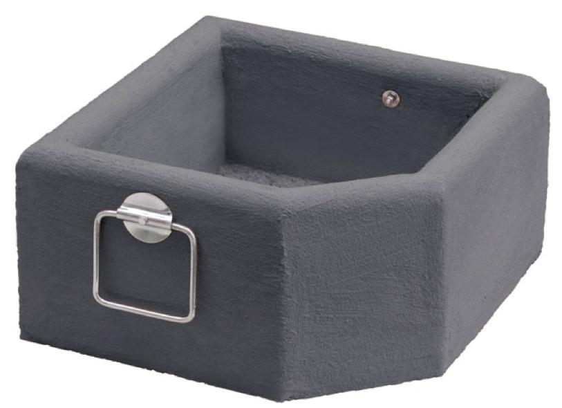 blumenk bel scolaro blumen betonk bel anthrazit f r plattenschirmst nder vom garten fachh ndler. Black Bedroom Furniture Sets. Home Design Ideas