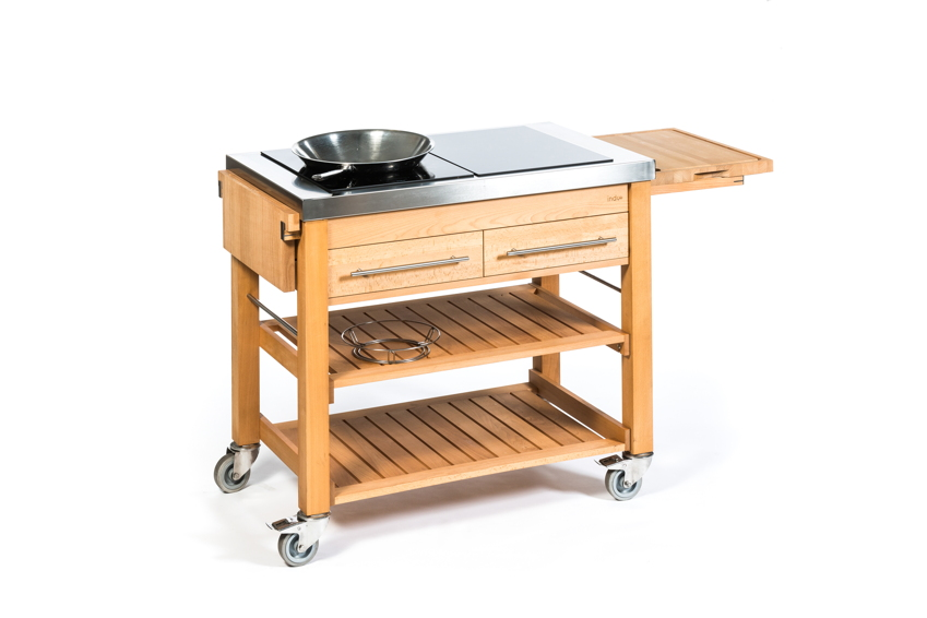 Outdoorküche INDU+ «BeechBoy Duo» Küchentrolley, Gartenküche ...