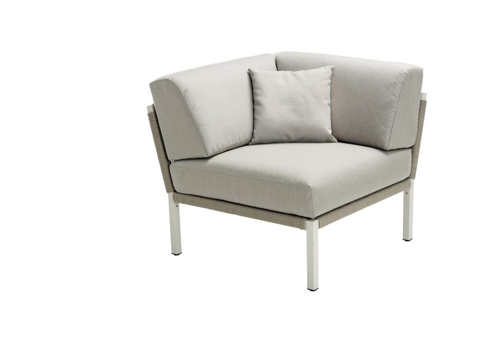 lounge element solpuri club eckelement taupe aluminium gartenm bel fachhandel. Black Bedroom Furniture Sets. Home Design Ideas
