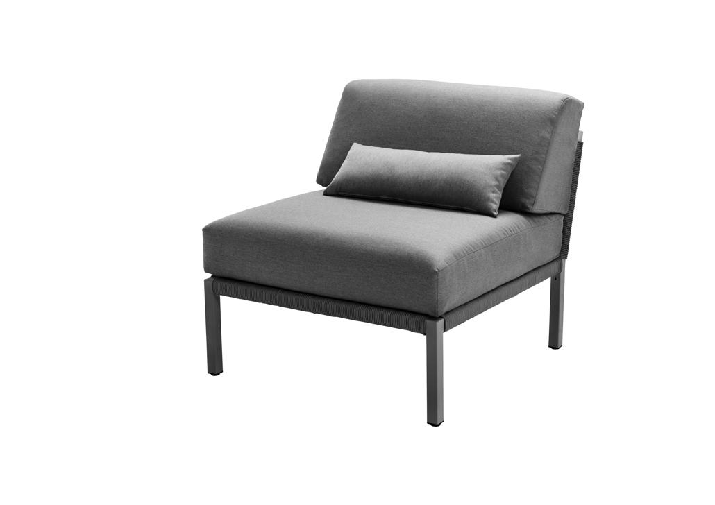 lounge element solpuri club mittelelement anthrazit aluminium gartenm bel fachhandel. Black Bedroom Furniture Sets. Home Design Ideas