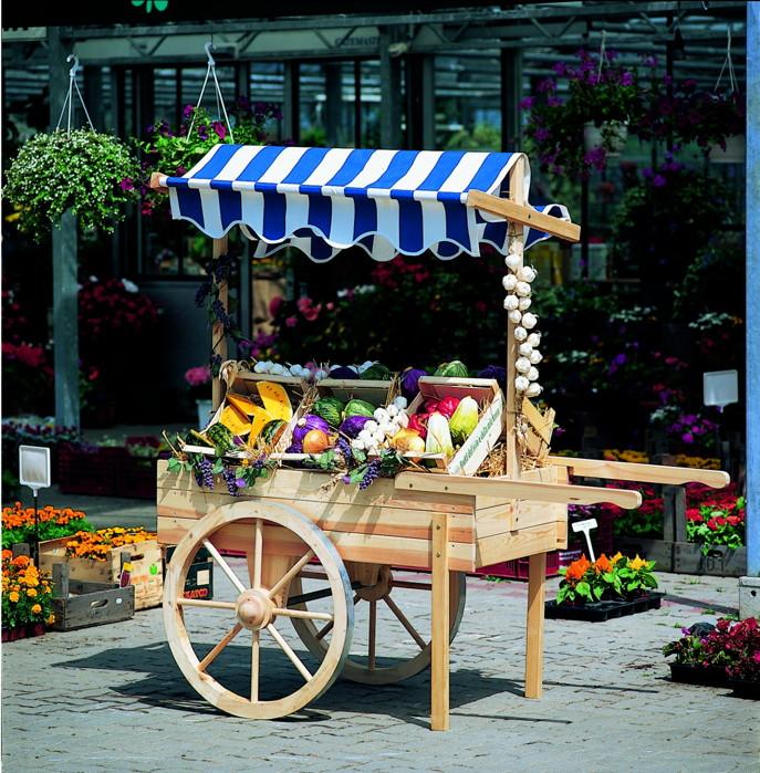 Verkaufsstand PROMADINO Marktstand Holz-Karren Verkaufswagen Promotionwagen