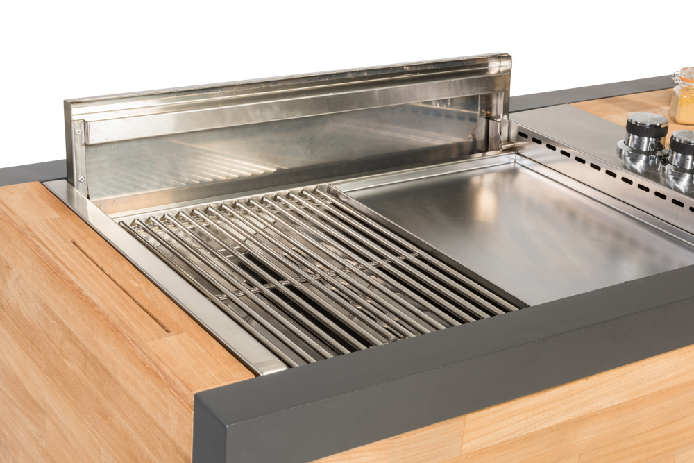 Outdoor Küche Edelstahl Vergleich : Outdoorküche indu «gazzboy» küchentrolley komplett grill