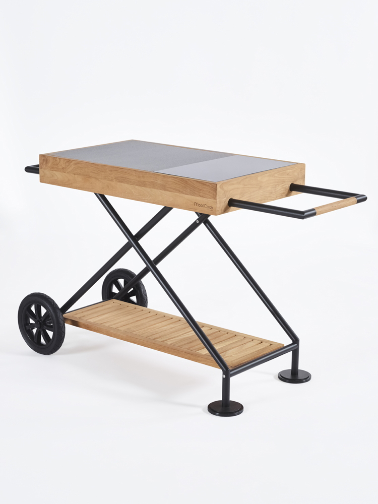 Outdoorküche MobiCook «Crossi Cook » Küchentrolley inkl. Kochplatte ...