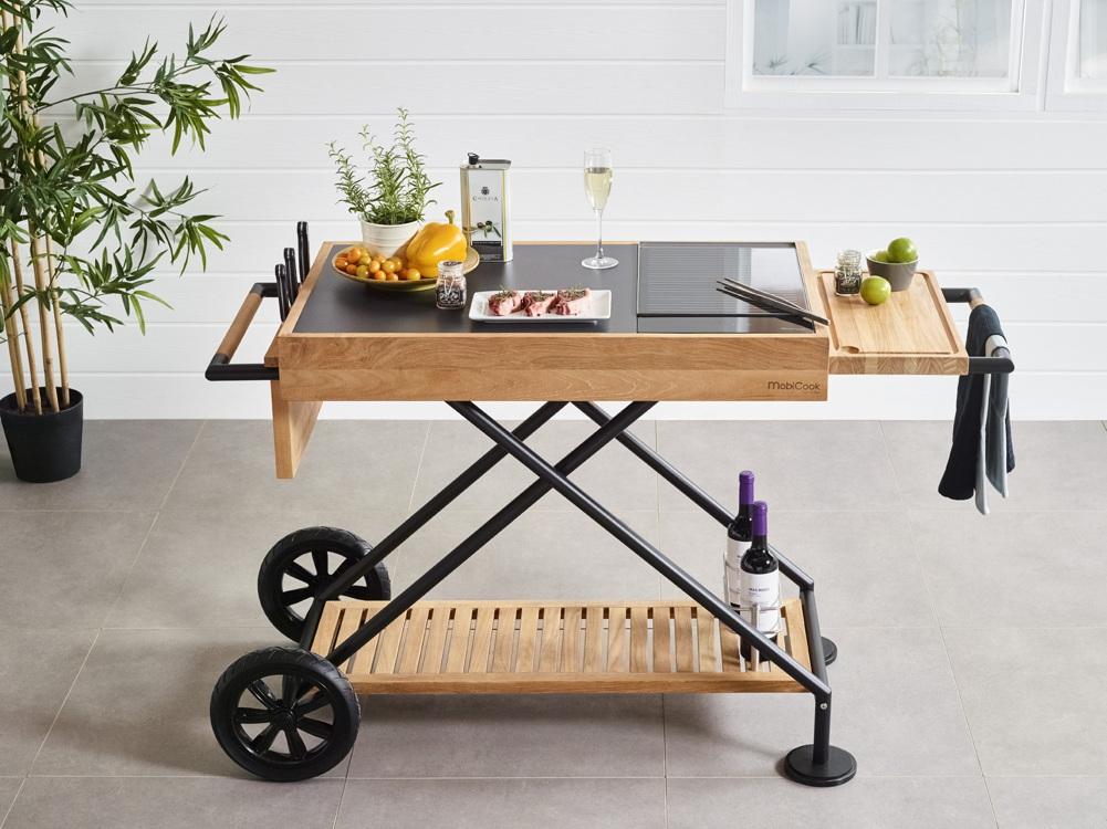 Outdoorküche Holz Gebraucht : Outdoorküche mobicook «crossi grill» küchentrolley inkl. kochplatte