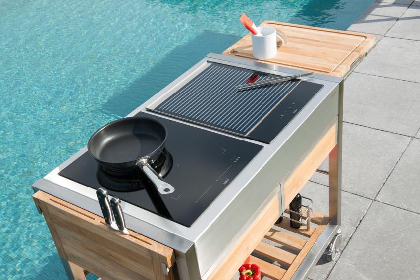 Outdoor Küchenwagen : Outdoorküche indu «tomboy duo teakholz» küchentrolley gartenküche