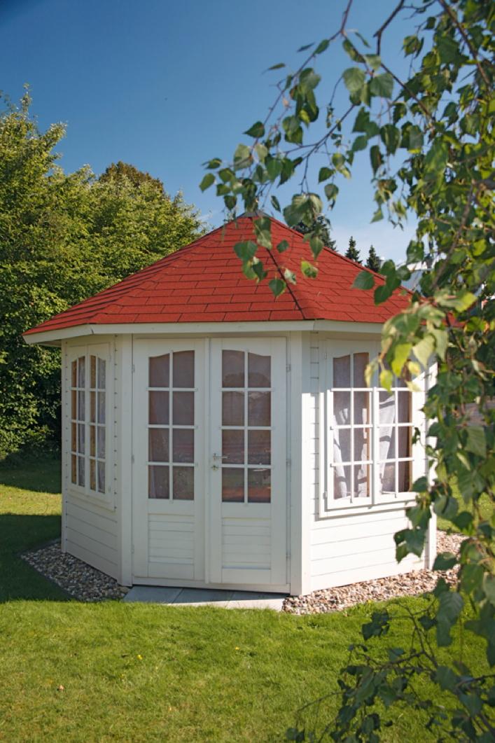 premium holz pavillon geshlossener 8 eck gartenpavillon parorama sprossen t r pavillon garten. Black Bedroom Furniture Sets. Home Design Ideas