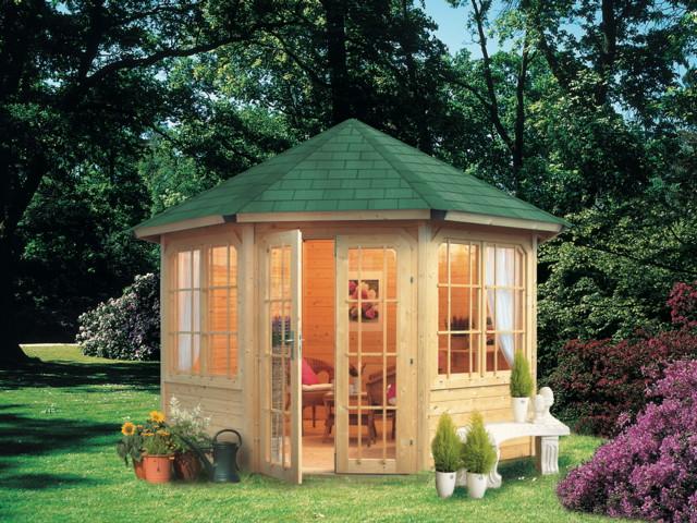 gartenpavillon holz mit fenster. Black Bedroom Furniture Sets. Home Design Ideas