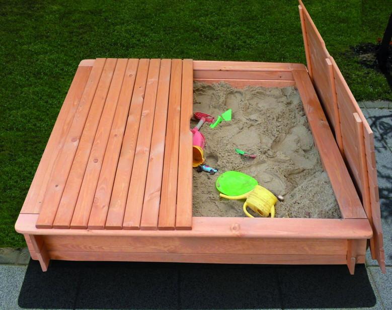 sandkasten holz promadino tessa deckel premium sandkiste. Black Bedroom Furniture Sets. Home Design Ideas