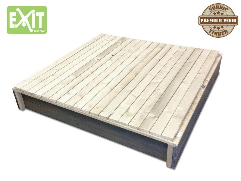 sandkasten exit aksent sandkiste sandbox xl aus holz. Black Bedroom Furniture Sets. Home Design Ideas