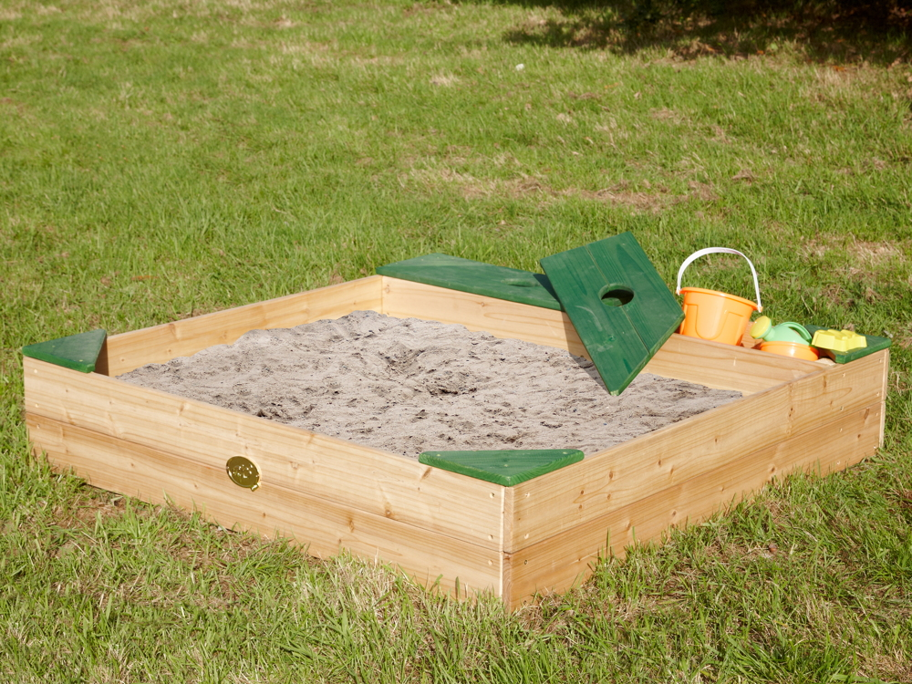 sandkasten holz amy sandkiste holzsandkasten vom spielger te fachh ndler. Black Bedroom Furniture Sets. Home Design Ideas