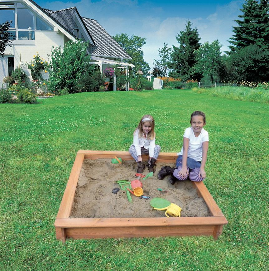 Häufig Sandkasten «Jonas 120 x 120» Holz Bausatz Sandkiste | vom Garten VH51