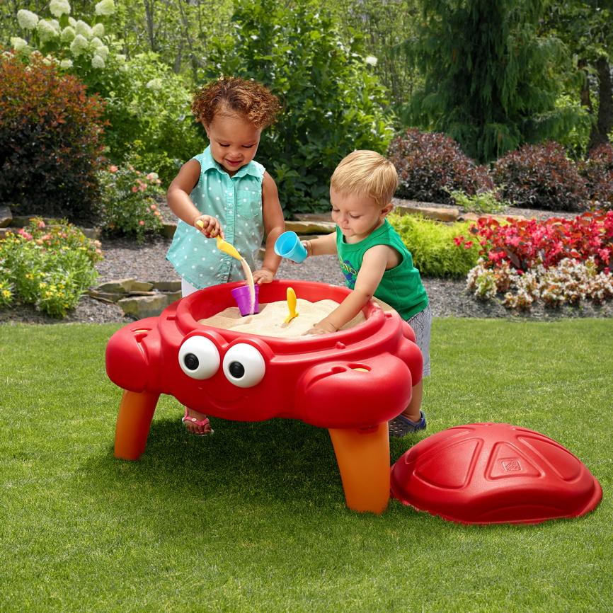 sandkasten step 2 crabbie sandtisch spieltisch kinderspielger te f r den garten. Black Bedroom Furniture Sets. Home Design Ideas