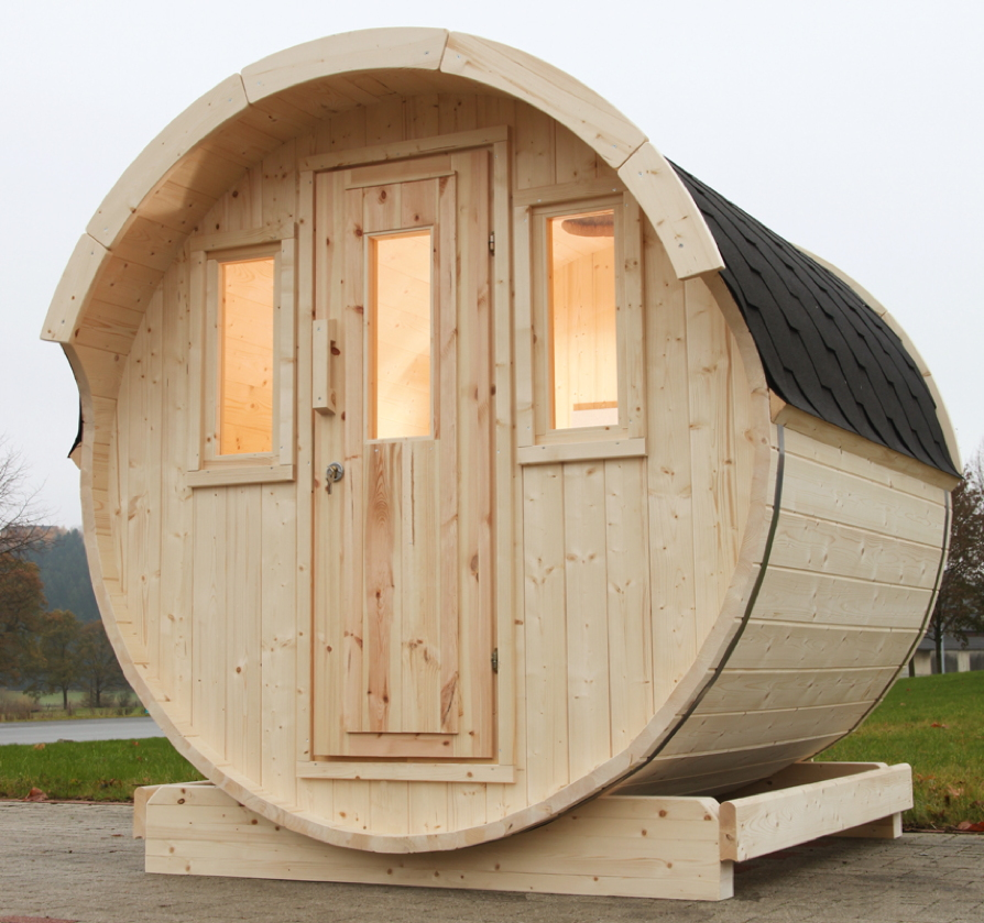 gartensauna wolff saunafass 220 sauna haus aussensauna. Black Bedroom Furniture Sets. Home Design Ideas