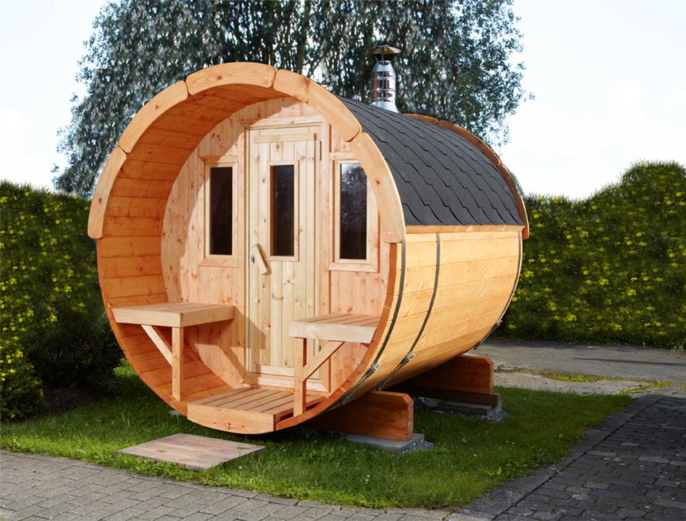 gartensauna wolff saunafass 250 sauna haus aussensauna. Black Bedroom Furniture Sets. Home Design Ideas
