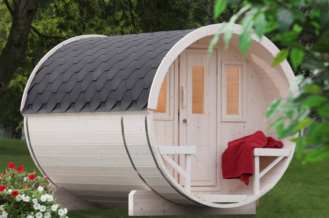 gartensauna wolff saunafass 280 sauna haus aussensauna fasssauna aus holz vom sauna fachh ndler. Black Bedroom Furniture Sets. Home Design Ideas