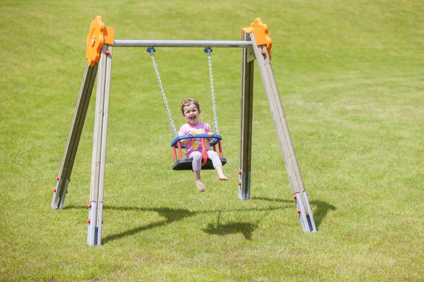 Spielplatz-Schaukel DIN EN 1176 Baby-Einzelschaukel Sultan Holzschaukel