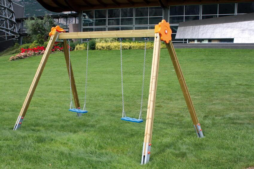 Kinder-Schaukel Doppelschaukel Classic CAL11 Holzschaukel Schaukelgerüst