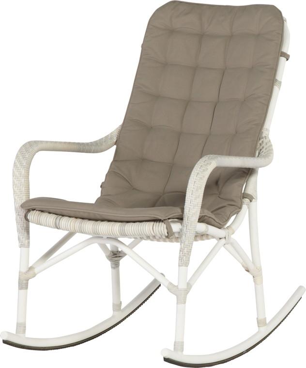 gartenstuhl olivia schaukelstuhl korbsessel geflecht mit kissen vom garten fachh ndler. Black Bedroom Furniture Sets. Home Design Ideas