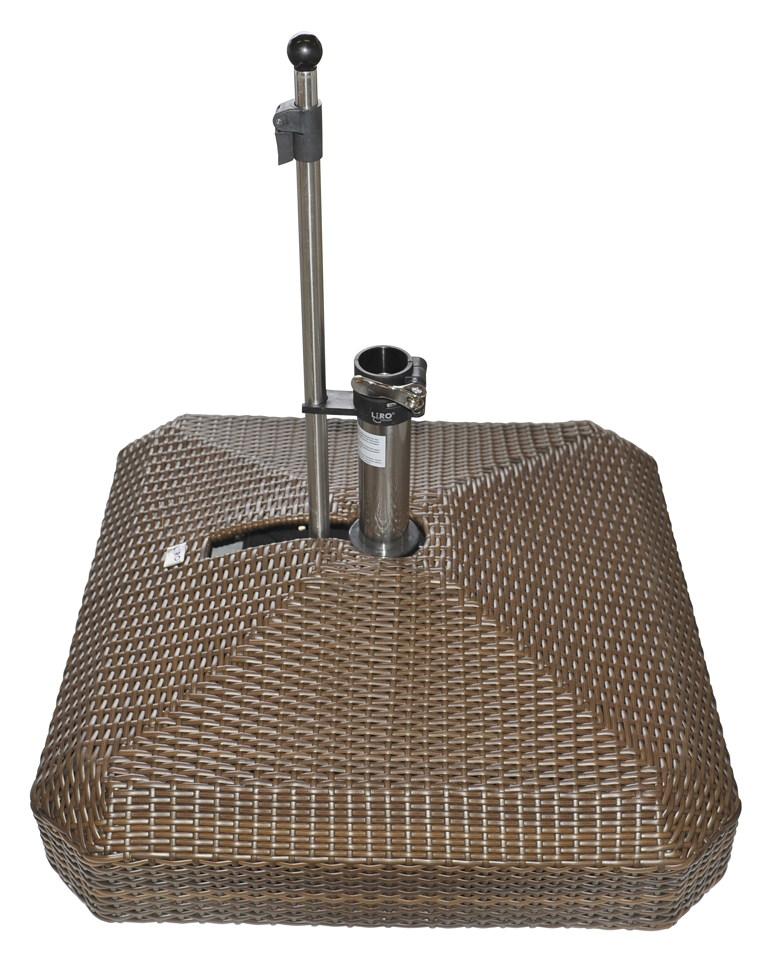 sonnenschirmst nder liro midi plus 100s rattan braun. Black Bedroom Furniture Sets. Home Design Ideas