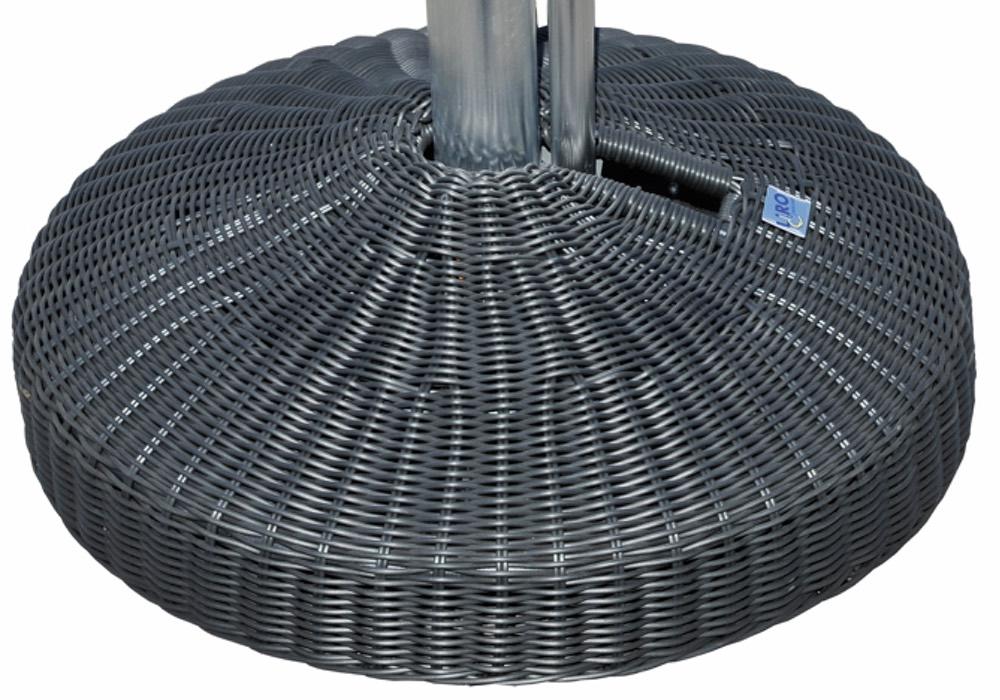 Schirmständer LIRO «Mini 35S Rattan Anthrazit» Parasol Base, Schirmfuss  Rollbar