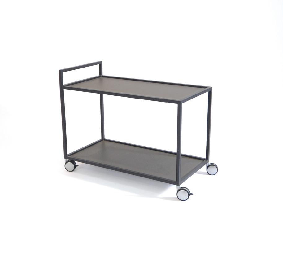 servierwagen fischer rio servierwagen graphit aluminium gartenm bel fachhandel. Black Bedroom Furniture Sets. Home Design Ideas