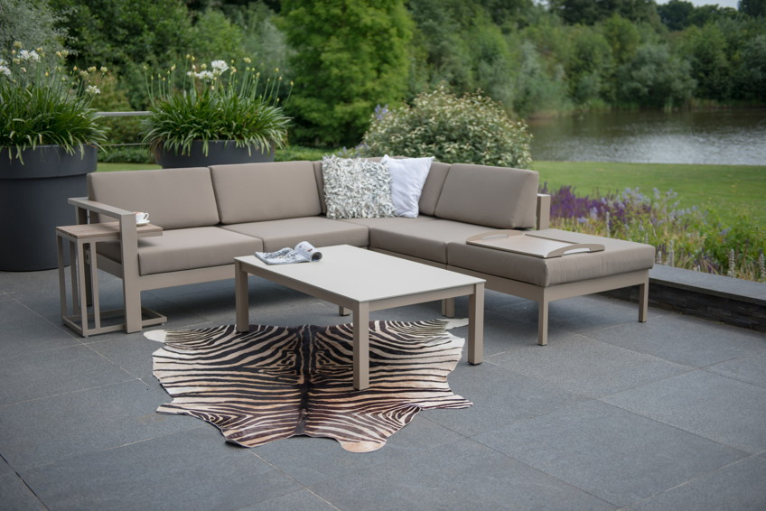 Gartenbank 4seasons «cosmo weiß» 2er sofa armlehne links ...